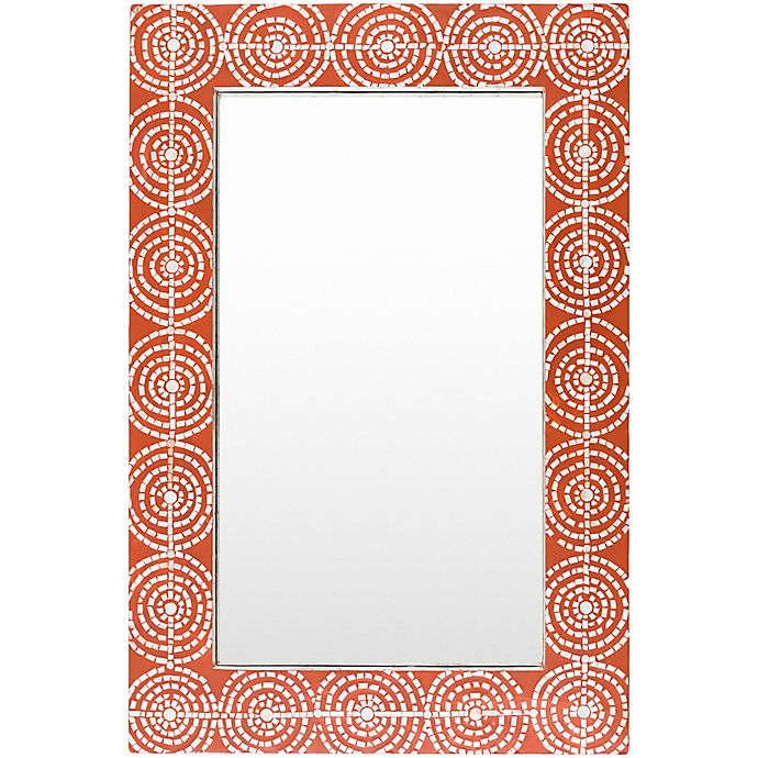 Alternate image 1 for Surya Iyanna 24-Inch x 36-Inch Wall Mirror in Black/Red