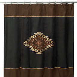 Avanti Mojave 72-Inch x 72-Inch Fabric Shower Curtain in Black/Brown