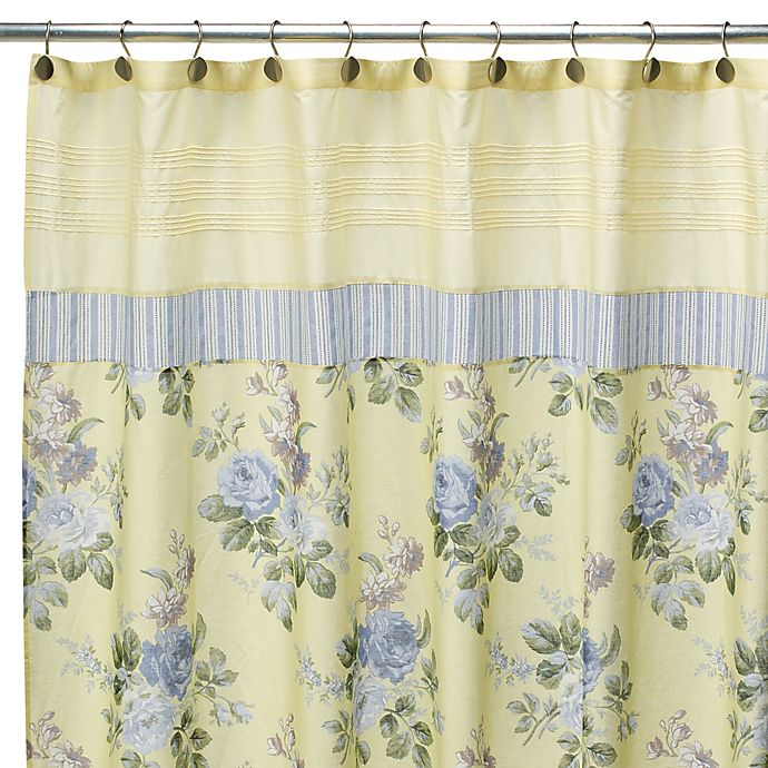 Laura Ashley Caroline 72 X Fabric Shower Curtain