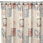 Ocean Shell 70-Inch W x 72-Inch L Fabric Shower Curtain