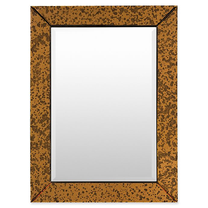 Alternate image 1 for Surya Tyrell 30-Inch x 40-Inch Rectangular Wall Mirror in Copper