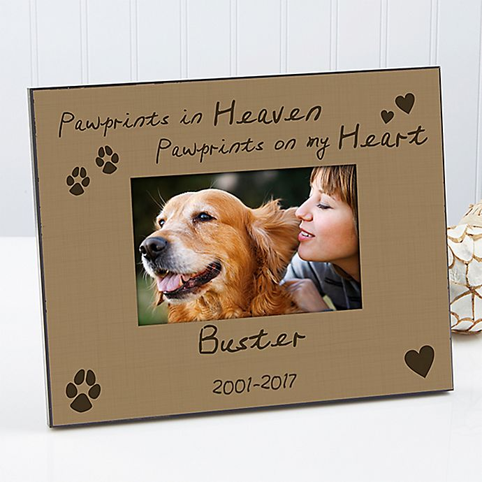 Alternate image 1 for Pawprints in Heaven 4-Inch x 6-Inch Picture Frame