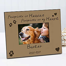 Pawprints in Heaven 4-Inch x 6-Inch Picture Frame
