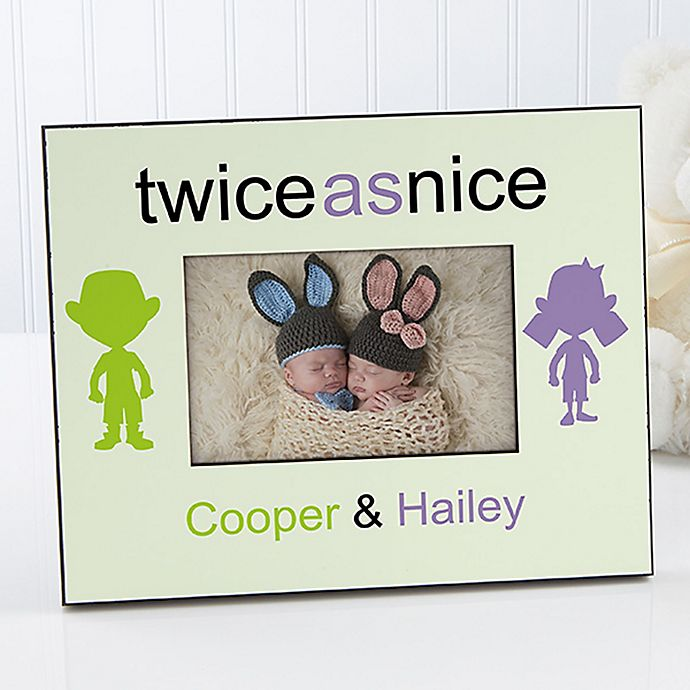 Alternate image 1 for Double Trouble 4-Inch x 6-Inch Twin Picture Frame