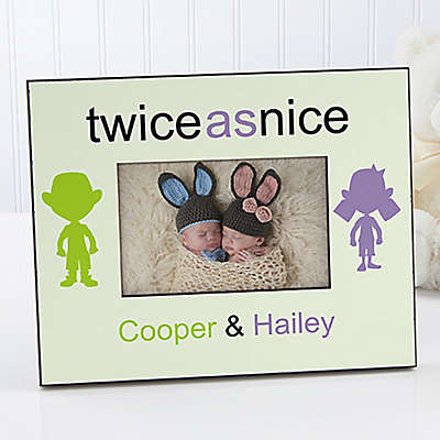 Double Trouble 4-Inch x 6-Inch Twin Picture Frame
