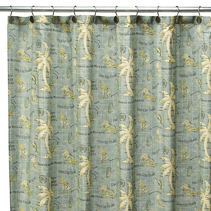 Tommy BahamaR Island Song 72 Inch X Fabric Shower Curtain