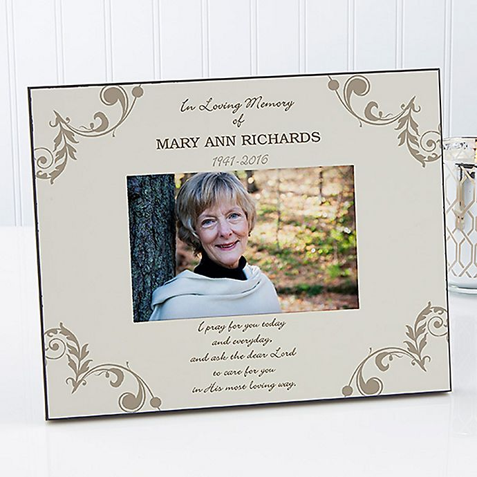 In Loving Memory 4 Inch X 6 Inch Memorial Picture Frame Bed Bath