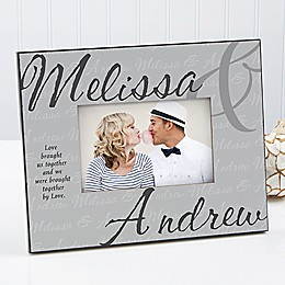 Love Brought Us Together 4-Inch x 6-Inch Picture Frame