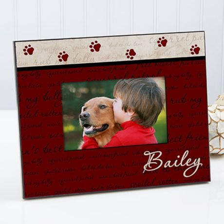 Sixtrees USA I Heart My Dog 3D Frame 4 by 6-Inch