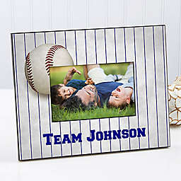 His Team 4-Inch x 6-Inch Baseball Picture Frame