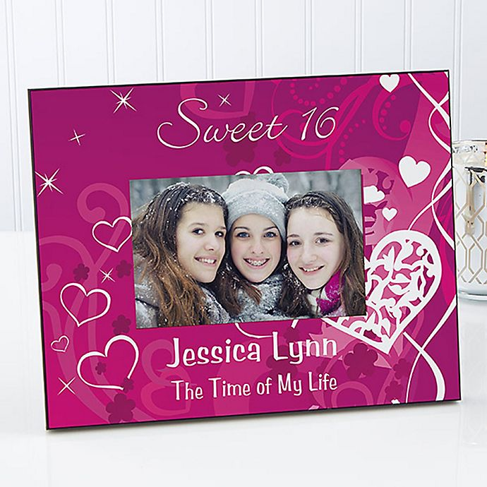 Alternate image 1 for Sweet Sixteen 4-Inch x 6-Inch Picture Frame