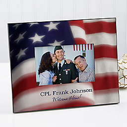 American Flag 4-Inch x 6-Inch Picture Frame