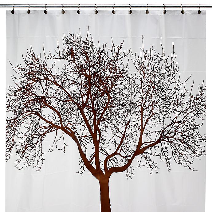Brown Tree 70 Inch W X 72 L Vinyl Shower Curtain
