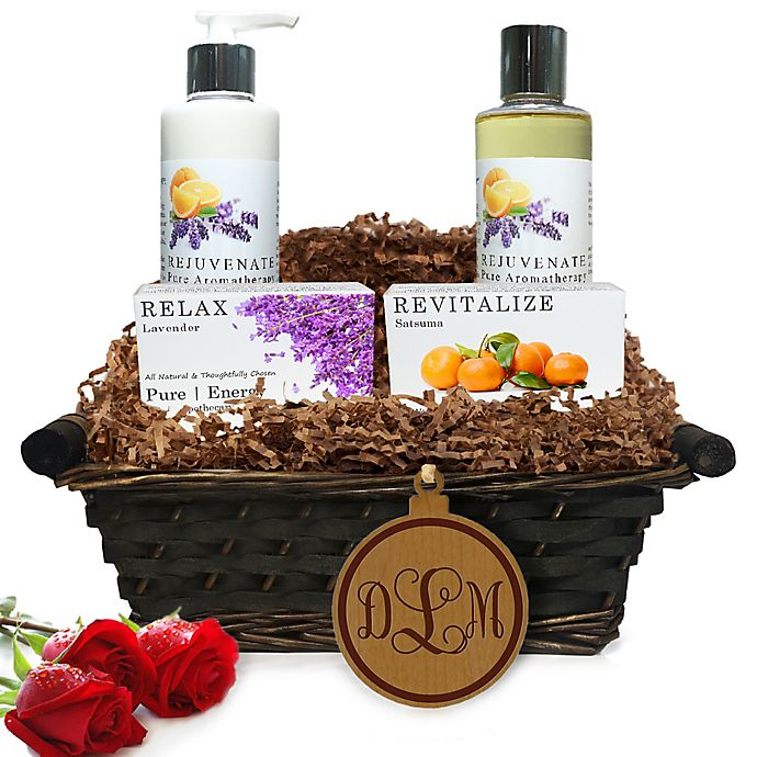Alternate image 1 for Pure Energy Apothecary Daily Delight Pure Aromatherapy Monogram Gift Basket