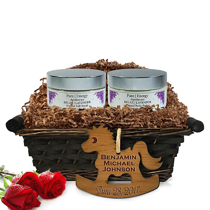 Alternate image 1 for Pure Energy Apothecary Supreme Sensation Lavender Baby Gift Basket