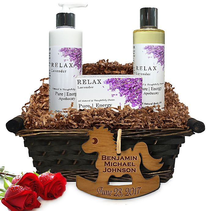 Alternate image 1 for Pure Energy Apothecary Daily Delight Lavender Baby Gift Basket