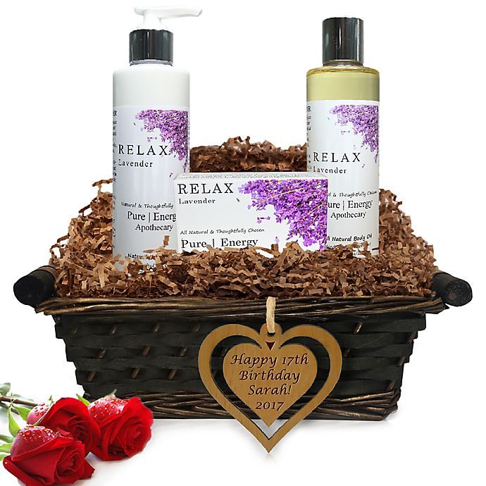 Alternate image 1 for Pure Energy Apothecary Daily Delight Lavender Birthday Gift Basket
