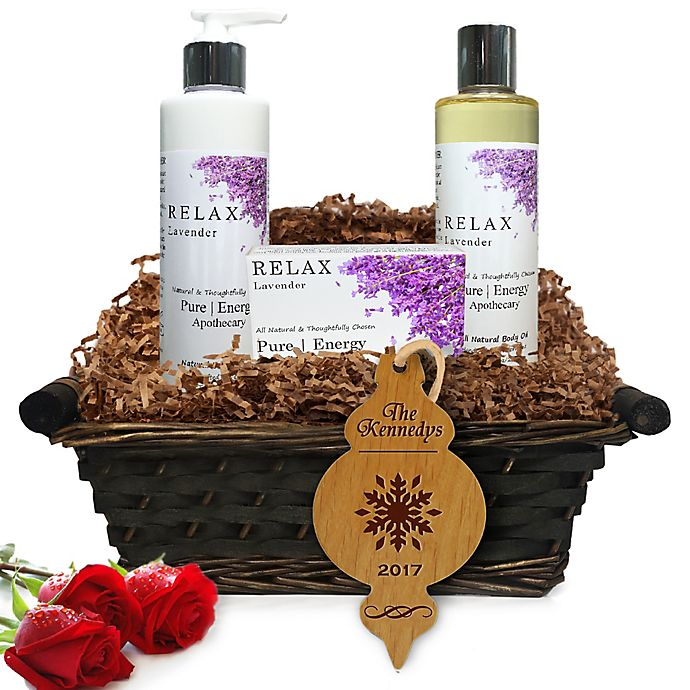 Alternate image 1 for Pure Energy Apothecary Daily Delight Lavender Christmas Gift Basket