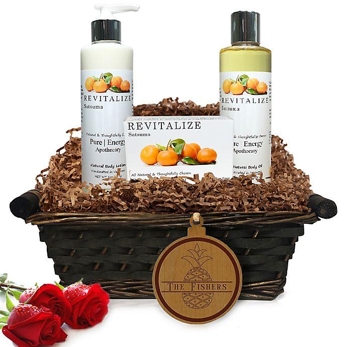 Alternate image 1 for Pure Energy Apothecary Daily Delight Satsuma Split Letter Pineapple Gift Basket