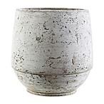 Rome Medium Rustic Vase in Brown/White