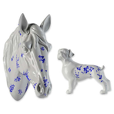 Renwil® Animal Statue in White/Blue