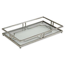 Uttermost Rafaela Iron and Glass Serving Tray in Silver