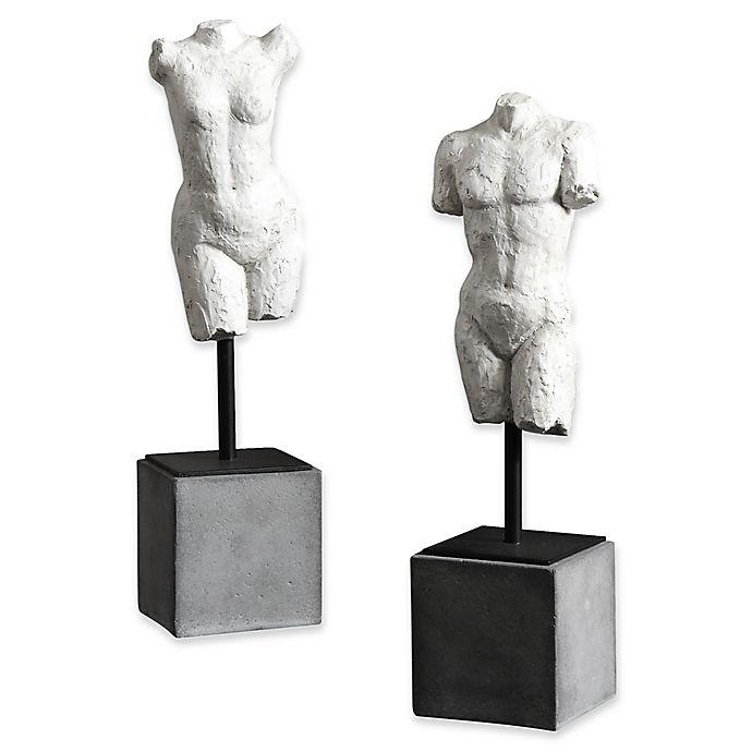 Alternate image 1 for Uttermost Valini Torso 2-Piece Sculpture Set in White