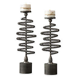 Uttermost Zigzag Candleholders (Set of 2)