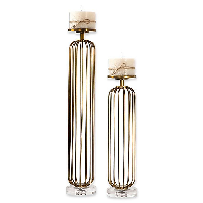 Alternate image 1 for Uttermost Cesinali Candle Holders in Antique Gold (Set of 2)