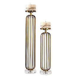 Uttermost Cesinali Candle Holders in Antique Gold (Set of 2)