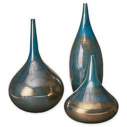 Madison Park Aurora 3-Piece Vase Set in Blue