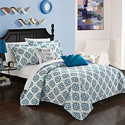 Chic Home Arvin 7-Piece Reversible Twin XL Quilt Set in Blue