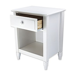 Adeptus Cottage 1-Drawer Nightstand in White