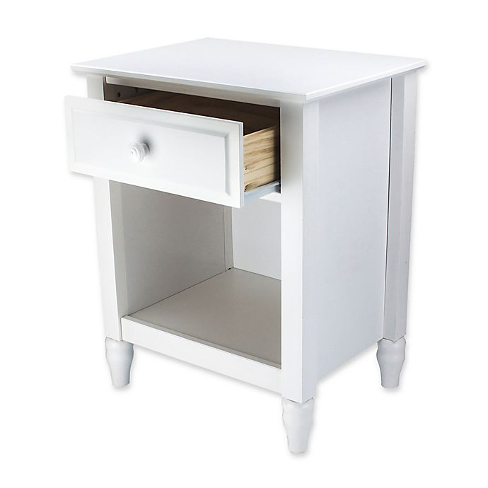 Alternate image 1 for Adeptus Cottage 1-Drawer Nightstand in White