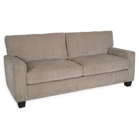 Serta 174 Palisades 78 Inch Linen Sofa Bed Bath Amp Beyond