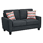 Serta Astoria 61-Inch Loveseat in Charcoal