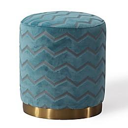 TOV Furniture Opal Velvet Ottoman