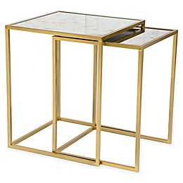 Calais Nesting Tables in Brass (Set of 2)