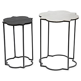 Brighton Accent Tables in Black/White (Set of 2)
