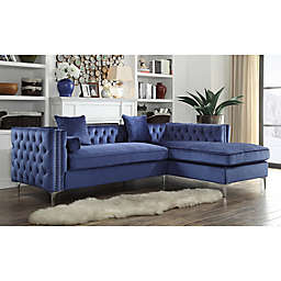 Chic Home Picasso Velvet Sectional Sofa Collection