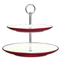 Noritake® Colorwave 2-Tier Hostess Tray in Raspberry