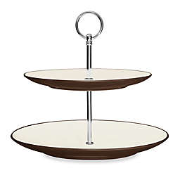 Noritake® Colorwave 2-Tier Hostess Tray in Chocolate