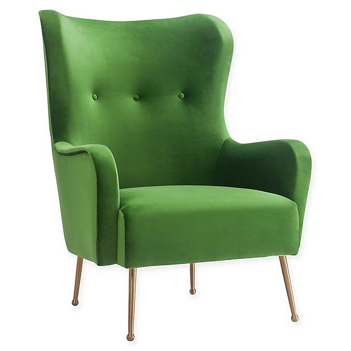 Alternate image 1 for TOV Furniture Ethan Velvet Chair in Green