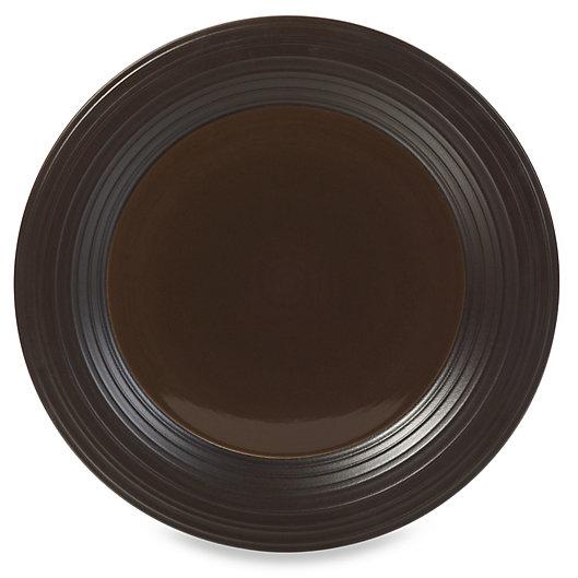 Alternate image 1 for Mikasa® Swirl 14-Inch Round Platter in Chocolate