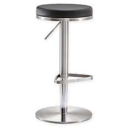 TOV Furniture Fano Steel Adjustable Bar Stool