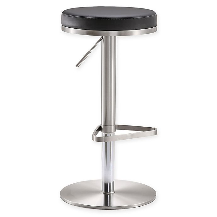 Tov Furniture Fano Steel Adjustable Bar Stool Bed Bath