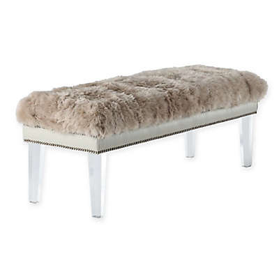 TOV Furniture Luxe Sheepskin Bench