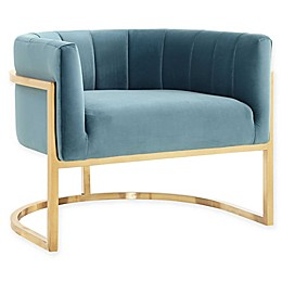 TOV Furniture Magnolia Velvet Chair with Gold Base