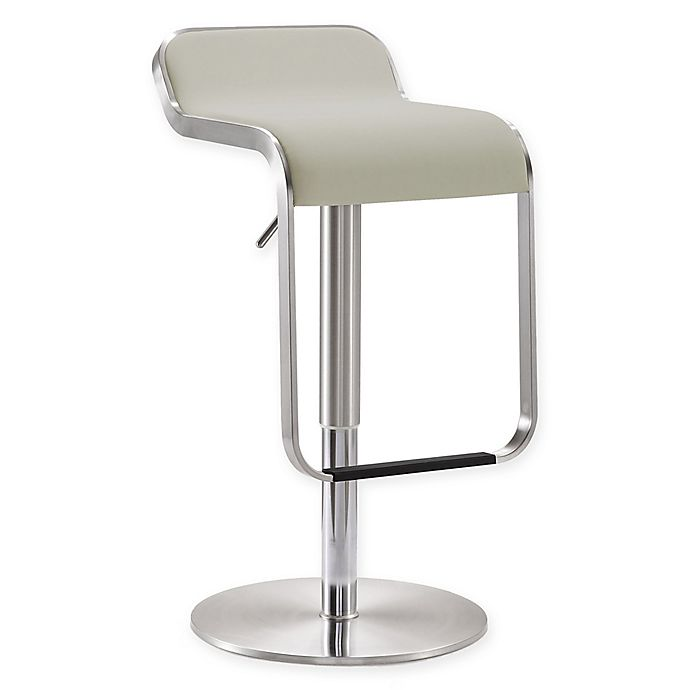 Alternate image 1 for TOV Furniture Napoli Bar Stool in Light Grey
