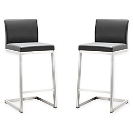 TOV Furniture Parma Steel Counter Stools (Set of 2)